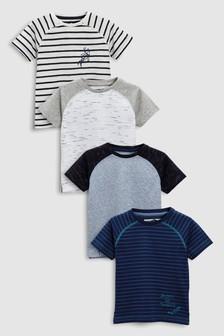 Набор из 4 футболок с рукавом реглан (3 мес.-6 лет)