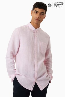 Original Penguin® Pink Long Sleeve Core Washed Line Shirt