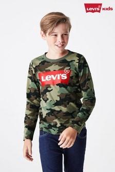 Levi's® Kids Camo Long Sleeve Batwing T-Shirt