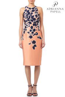 Adrianna Papell Spotted Garden Cutaway Sheath Dress