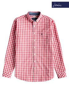 Joules Red Gingham Classic Fit Hewney Shirt