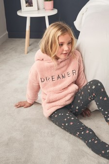 Dreamer Fleeceoberteil mit Kapuze und Leggings im Set (3-16yrs)