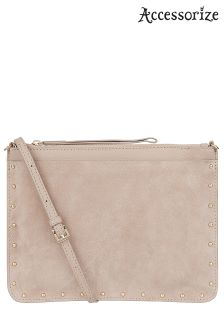 Accessorize Studded Leather Across Body Bag
