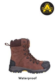 Amblers Safety Brown AS995 Pillar Waterproof Lace-Up Safety Boots