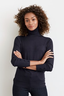 Suéter con cuello vuelto