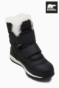 Sorel® Black Whitney Velcro Boot