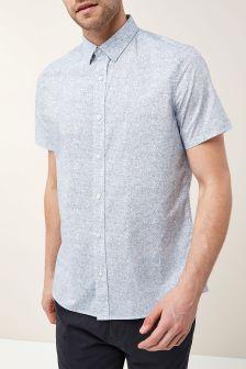 Short Sleeve Ditsy Print Shirt