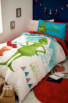 The Grinch Duvet Cover and Pillowcase Set