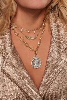 Kate Thornton Guardian Angel Layered Necklace Set