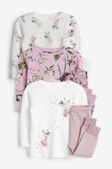3 miękkie pidżamy Fairy (9m-cy-8lata)