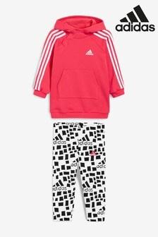 adidas Infant Pink Hoody & Print Legging Set