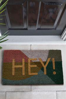 Glitter Hey Doormat