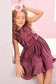 Jacquard Ruffle Dress (3-16yrs)