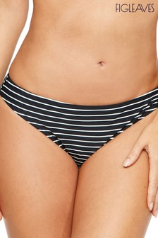 Figleaves Black/White Tailor Classic Brief