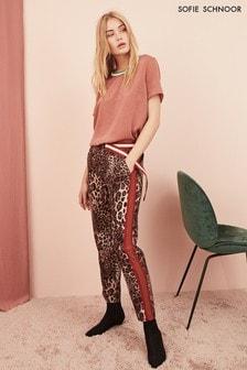 Sofie Schnoor Leopard Side Stripe Trouser