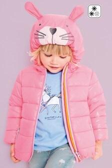 Veste à capuche matelassée à motif personnage (3 mois - 6 ans)