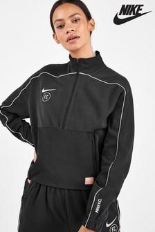 Nike FC Black/Rose Gold 1/4 Zip Top