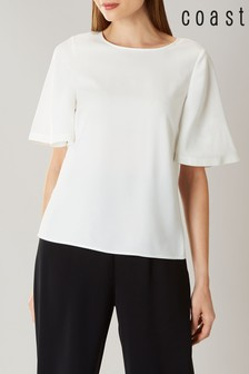 Coast White Arlington Angel Sleeve Top