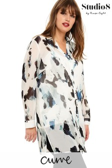 Studio 8 White Tegan Printed Shirt