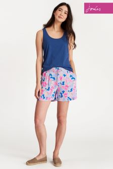 Joules Sky Blue Ditsy Yacht Shorts