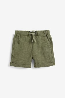 Linen Blend Pull-On Shorts (3mths-7yrs)