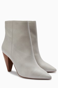Signature Cone Heel Ankle Boots