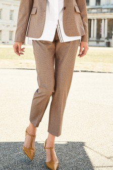 Textured Slim Suit Trousers