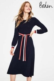 Boden Navy Eden Knitted Dress