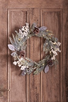 Frosted Foliage Wreath
