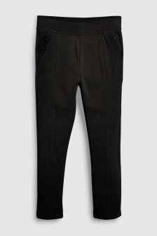 Frill Pocket Ponte Trousers (3-16yrs)
