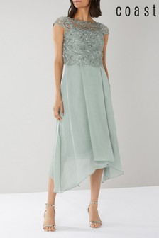Coast Green Jade Embroidered Bodice Dress