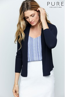 Pure Collection Edge To Edge Cotton Cardigan
