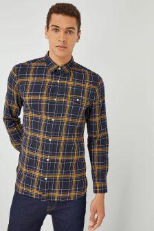 Koszula z długim rękawem, w kratę