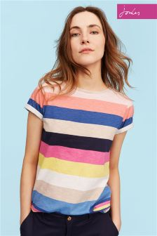 Joules Wide Multi Stripe Nessa Top