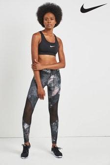 Nike Black Printed Tight