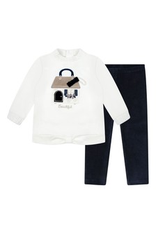 Baby Girls Navy Leggings Set