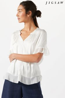 Jigsaw Cream Crocus Drape Top