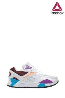 Reebok White/Purple Aztrek Youth Trainers
