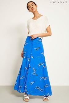 Mint Velvet Blossom Print Maxi Skirt