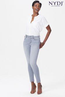 NYDJ Pale Grey Sheri Slim Leg Jean