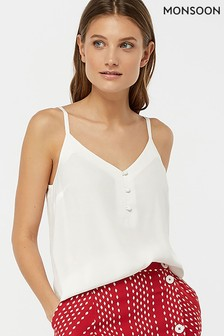 Monsoon Ladies Cream Mila Button Cami