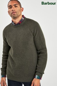 Barbour® Green Manor Crew Sweater