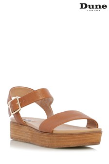 Dune London Tan Lilybeth Sandal