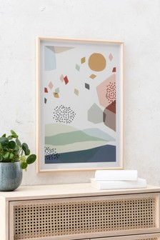 Abstract Landscape Framed Art