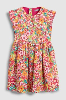 Bright Floral Dress (3-16yrs)