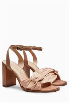 Leather Knot Sandals