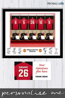 Personalised Manchester United Dressing Room Print by Personalised Football Gifts