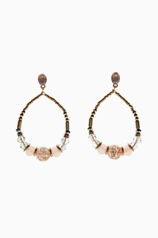 Bead Effect Drop Earrings