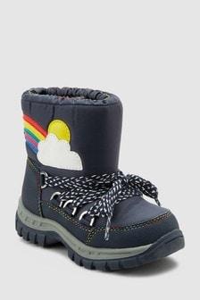 Cizme de zăpadă cu model curcubeu (Fetițe)