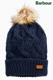 Barbour® Navy Ashridge Beanie c7ab55b04b79
